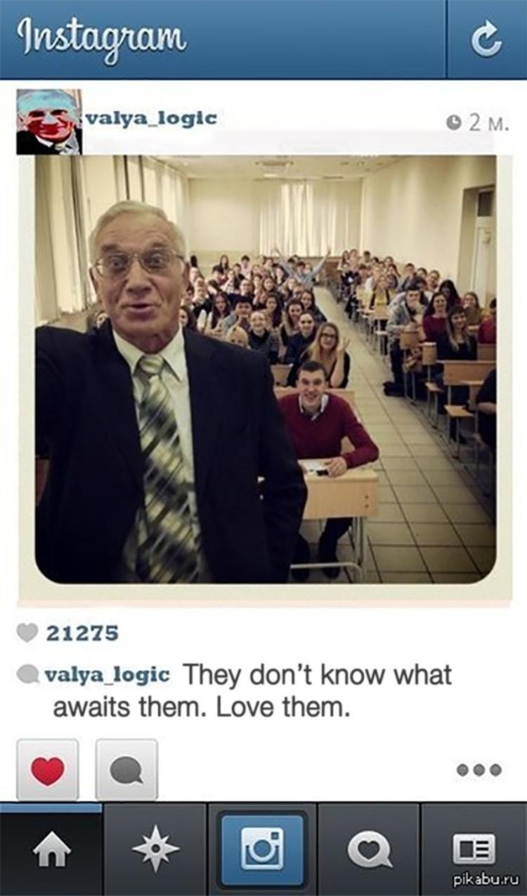 """Thầy giáo cũng theo xu hướng """"Instagram của ai người nấy đẹp""""."""