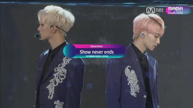 Nhóm thể hiện bộ đôi ca khúc Show Never Ends và I Don't Know, Well.
