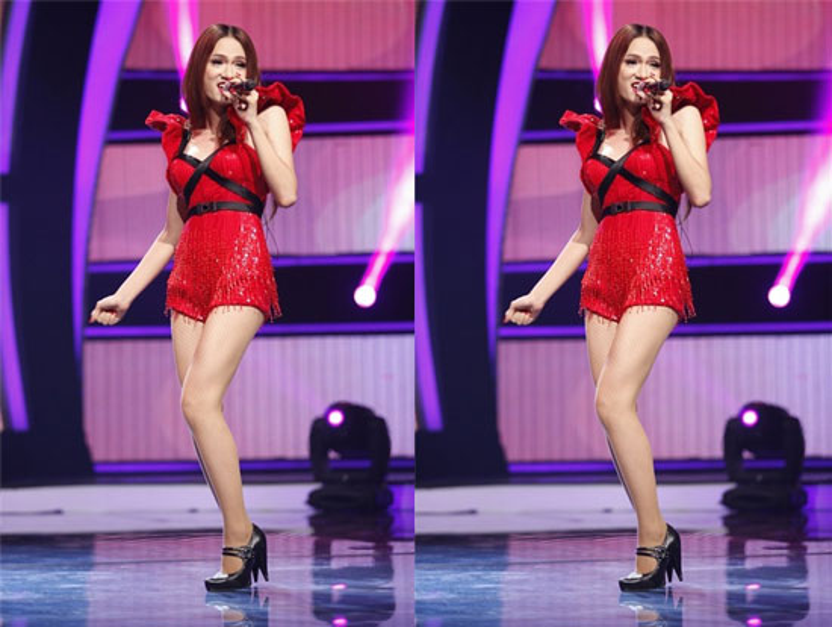 Chiếc váy ren màu đỏ, lại thêm phần cánh tiên thế kia chỉ có các cháu mẫu giáo ưa thích thôi.
