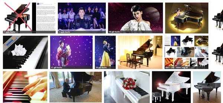 Trên trang kết quả đầu tiên Google Images trả về khi tìm kiếm từ khóa Dương Cầm, có đúng một hình ảnh của nhạc sỹ này.