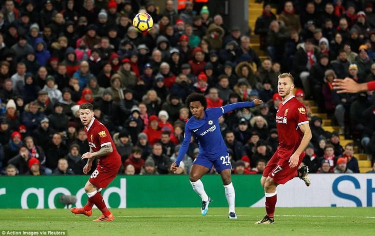 Willian phủ nhận ghi bàn rùa giúp Chelsea giật 1 điểm tại Anfield