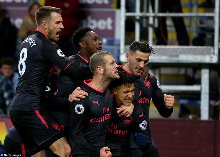 Ở trận đấu còn lại, Arsenal cũng phải rất vất vả mới có thể lấy 3 điểm trên sân Burnley. Bàn thắng duy nhất của Pháo thủ được ghi do công của A.Sanchez trên chấm 11m cuối trận.