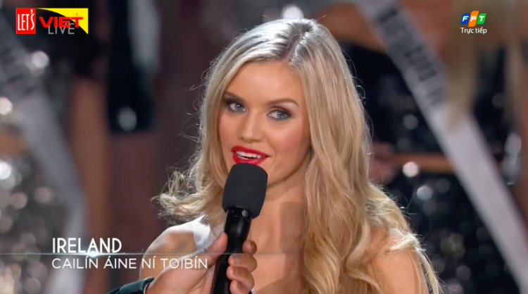 Hoa hậu Hoàn vũ Ireland.