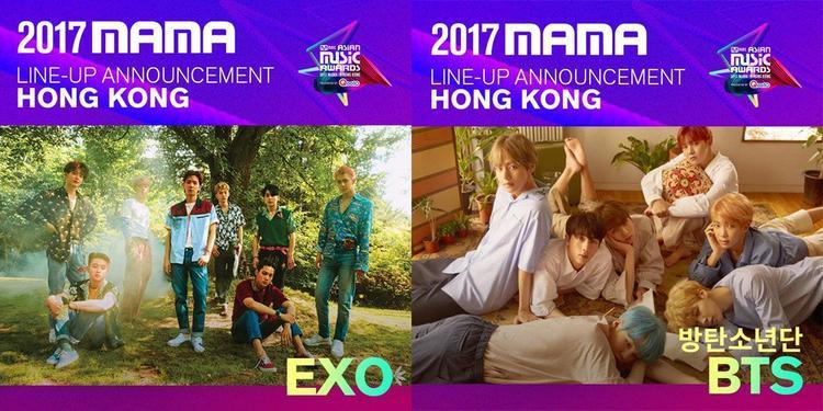 BTS, EXO và nhiều nghệ sĩ Kpop xác nhận tham gia MAMA 2017.