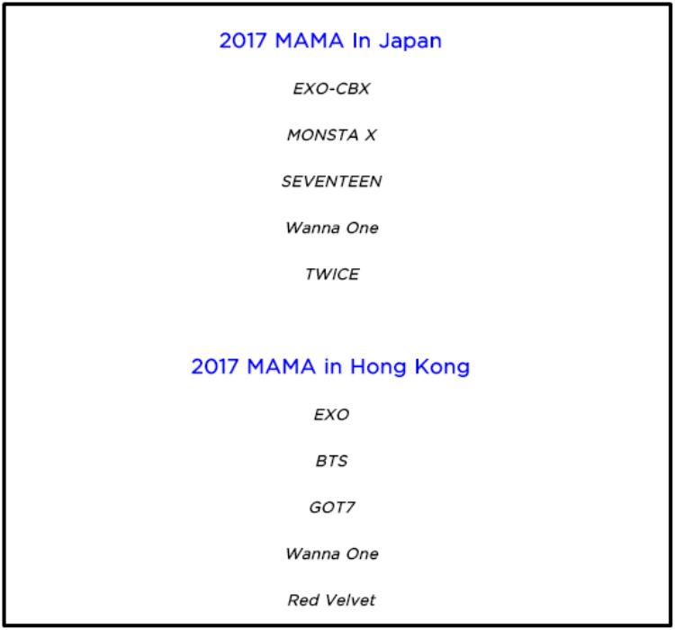 Dàn nghệ sĩ do BTC tiết lộ hoàn toàn vắng bóng các thành viên nhà YG.