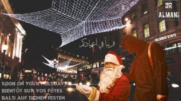 IS tung ảnh trói tay ông già Noel, đe dọa châu Âu dịp giáng sinh.