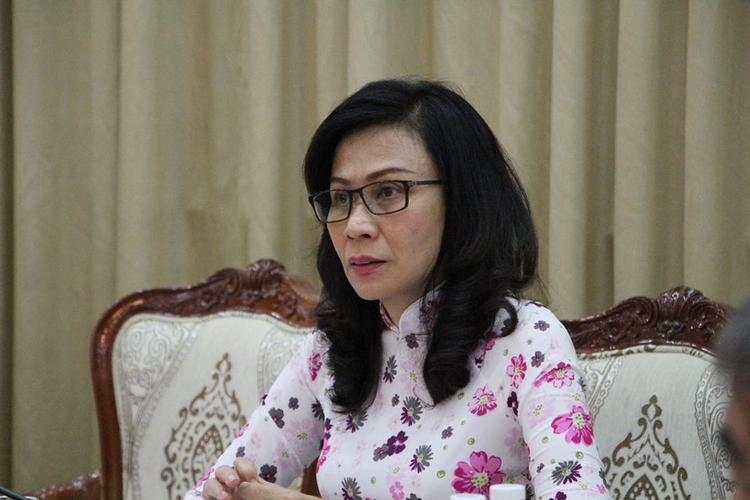 Bà Nguyễn Thị Thu - Phó Chủ tịch UBND TP.HCM chủ trì cuộc họp.