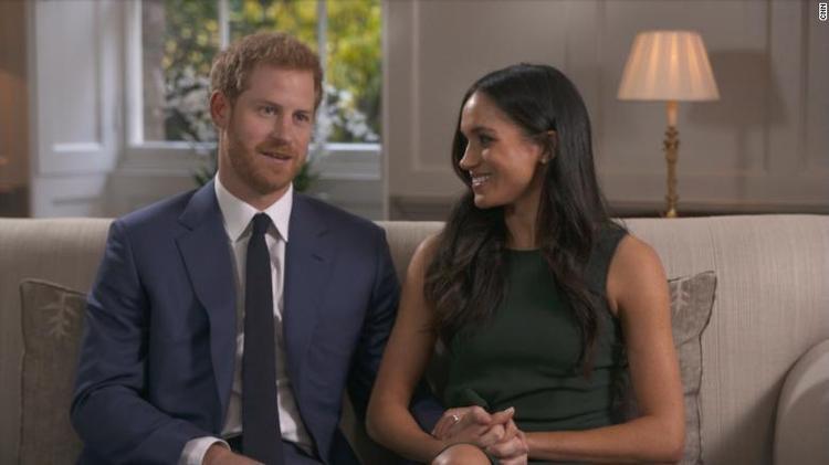 Hoàng tử Harry và vị hôn thê trong buổi phỏng vấn với CNN.