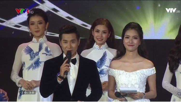 Nguyên Khang và Mỹ Linh là MC sân khấu sự kiện.