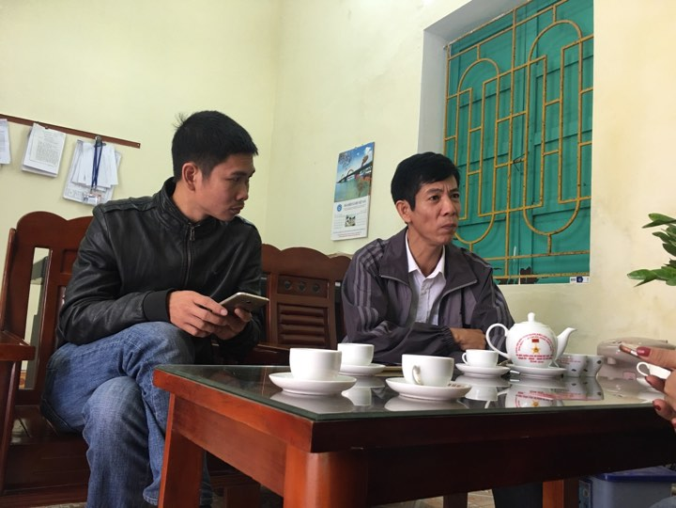 Ông Trung (phải) rất bất ngờ trước thông tin bà Xuân là nghi phạm giết cháu mình.
