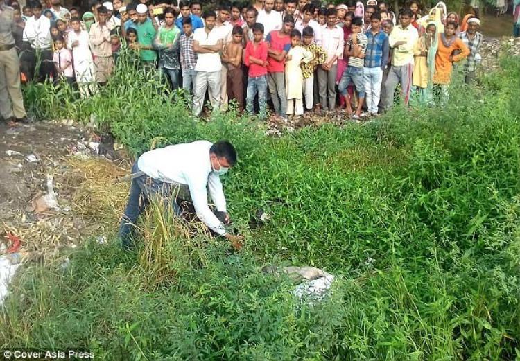 Hiện trường nơi phát hiện thấy thi thể béAkshita.