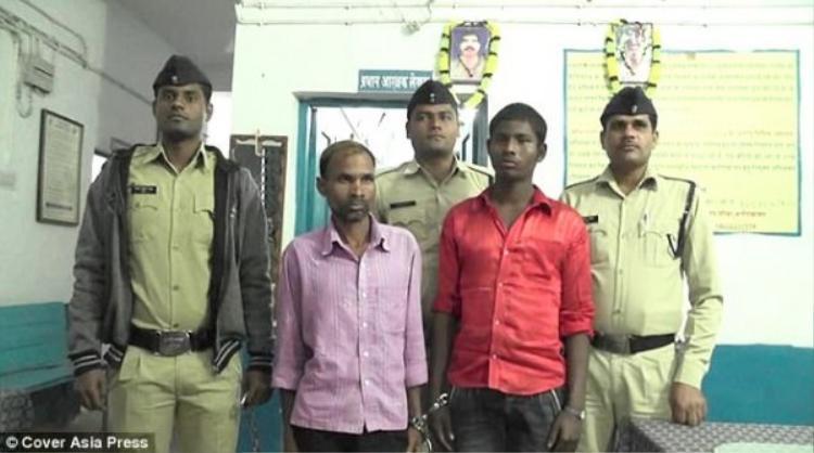 Ông Ram và thầy bóiRajesh Yadav bị bắt giữ về tội giết người và âm mưu giết người.