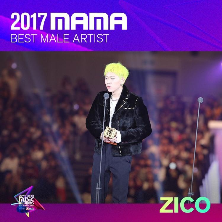 Zico là cái tên chiến thắng ở hạng mục Nam nghệ sĩ xuất sắc nhất.