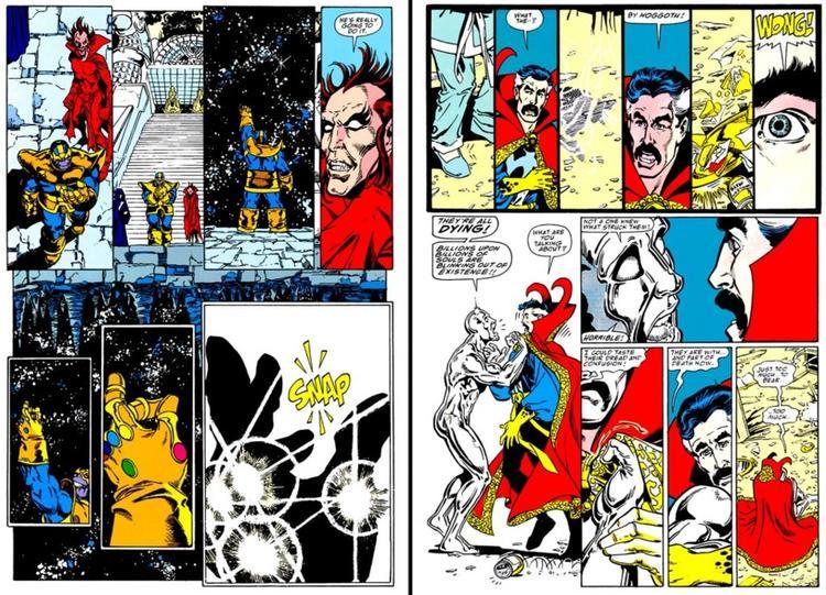 Thanos búng tay và tiêu diệt một nửa số sinh mạng trong vũ trụ