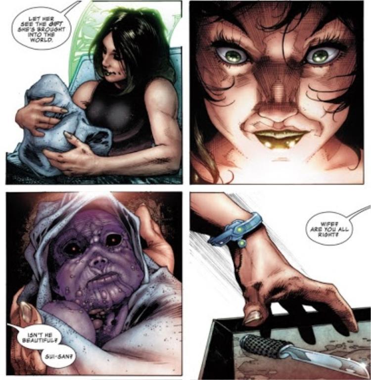 Ngay từ khi sinh ra, Thanos đã xấu xí đến mức khiến chính mẹ hắn muốn giết con mình