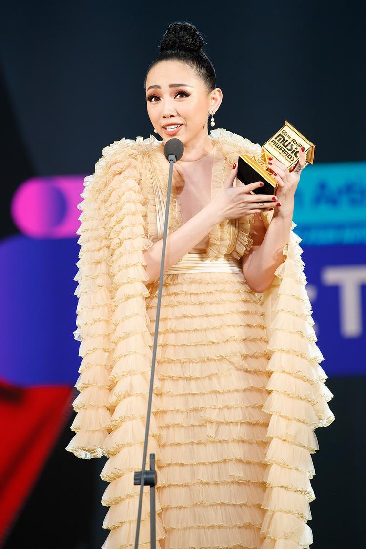 Và Tóc Tiên cũng đã được xướng tên tại lễ trao giải tầm cỡ châu Á.