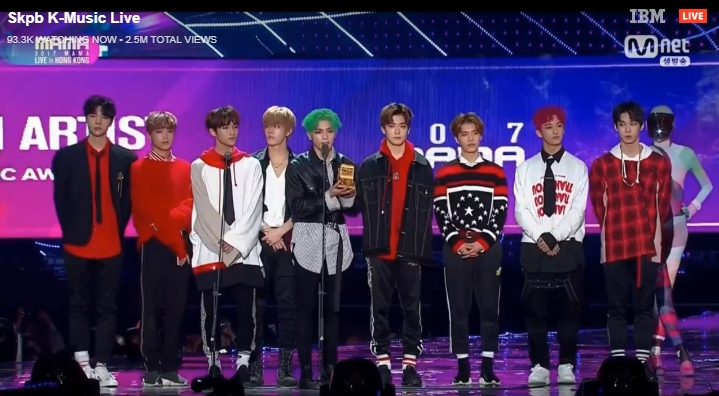 Best New Asian Artist gọi tên NCT 127!