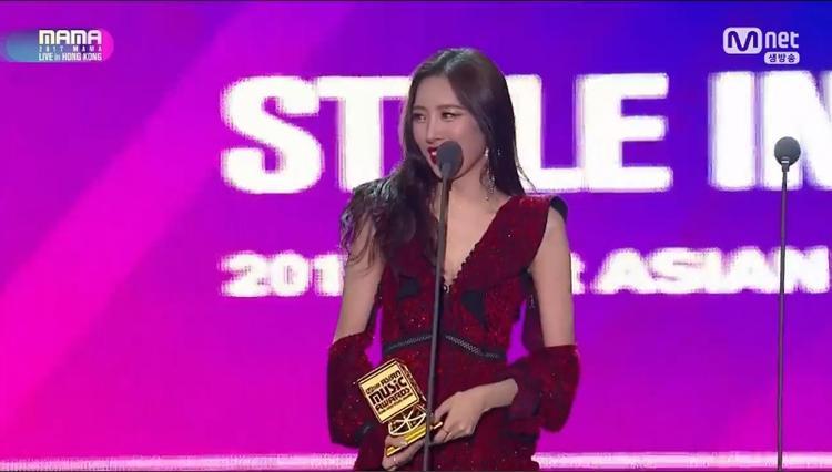 Sunmi được xướng tên ở hạng mục Style in Music.