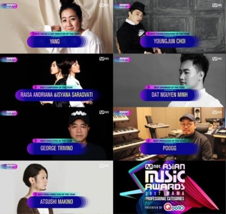 Nguyễn Minh Đạt được tôn vinh ở hạng mụcBest Engineer Of The Year (kỹ sư âm nhạc của năm).