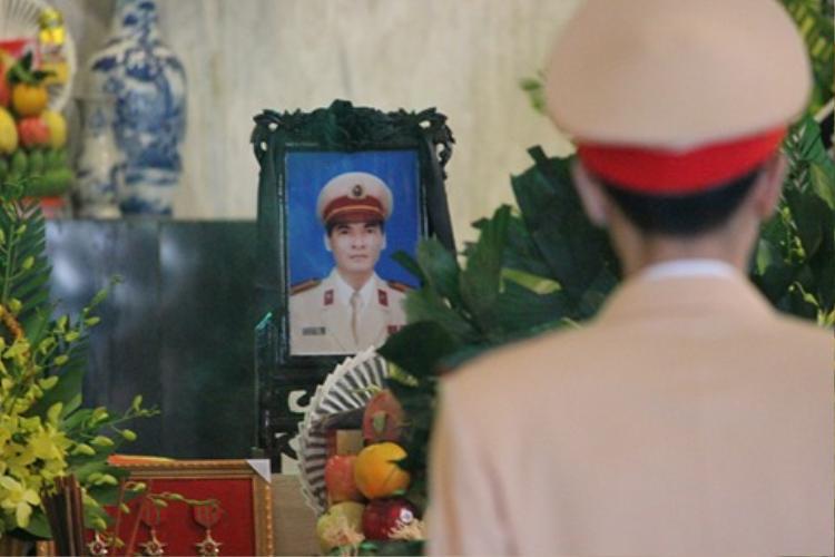 Di ảnh của Trung tá Trần Văn Vang - người đã 21 năm công tác trong lực lượng Công an nhân dân.
