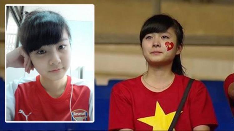 Ngắm hai hot-girl fan Arsenal từng gây sốt sân Mỹ Đình