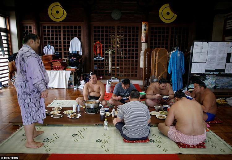 Võ sư gốc Mông Cổ Tomozuna Oyakata đang theo một lớp huấn luyện sumo tại Nyamjavyn Tsevegnyam, hiện có thế nói tiếng Nhật như người bản địa. Ông đã chuyển sang quốc tịch Nhật và kết hôn với một người phụ nữ bản địa.