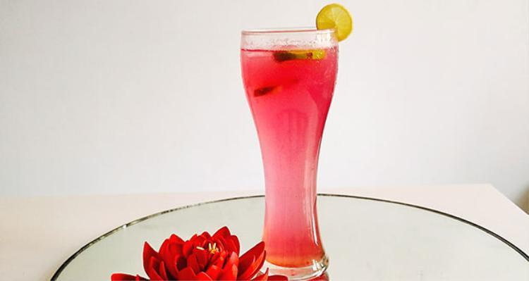 Công thức đơn giản để có ly nước chanh mang sắc hồng bắt mắt