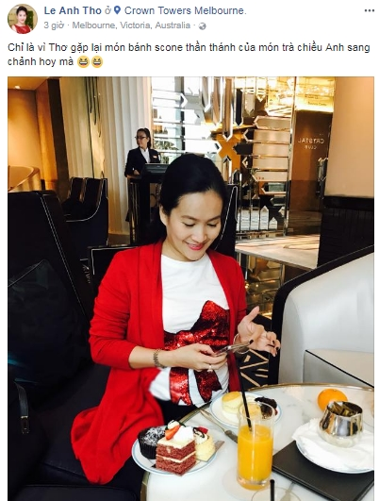 Bà xã Bình Minh chia sẻ hình ảnh trong chuyến đi Úc giữa lùm xùm của chồng.