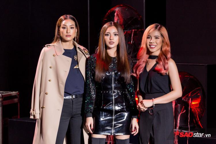 Bộ ba giám khảo khách mời: Chang Makeup, Lilly Nguyễn và quán quân The FaceVietnam mùa 2 Tú Hảo.