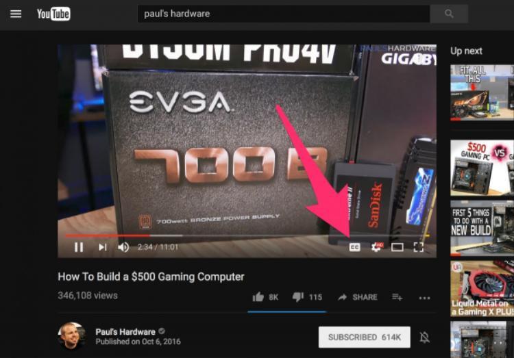 Hiện tại có khoảng 1 tỷ video trên YouTube đã được hỗ trợ tính năng thêm caption tự động ngay cả khi người tải lên không làm điều này.