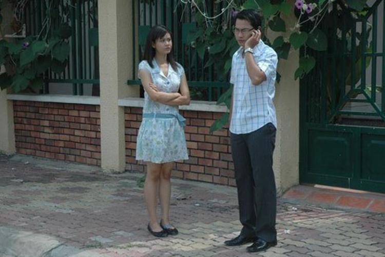 Hình ảnh cặp đôi trong bộ phim Một ngày không có em.