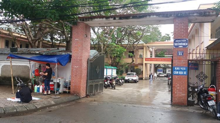 Bệnh viện Y học Cổ truyền Nghệ An, nơi xảy ra sự việc.