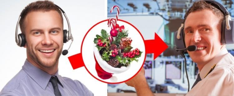 12. Phi công và điều phối viên không phải lúc nào cũng giao tiếp trang trọng: Có một truyền thống trong ngành hàng không, đó là phi công sẽ được điều phối viên chúc mừng trong tất cả các ngày lễ. Và bạn hãy tưởng tượng thử: một phi công có thể bay 4 chuyến/ngày trước lễ Giáng sinh, và trong dịp này sẽ có khoảng 2000 người chúc anh ta Giáng sinh vui vẻ.