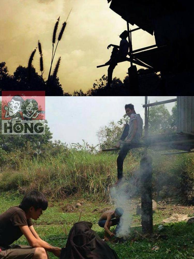 Thanh niên cứ việc mơ màng với sương khói núi đồi còn việc tạo ra khói cứ để anh lo!