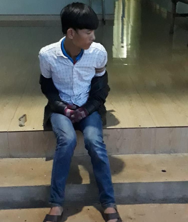 Trần Mạnh Hùng khi bị bắt