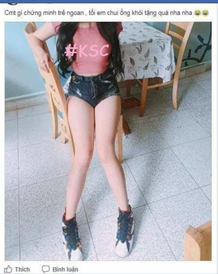 Bức ảnh được cô gái đăng tải lên mạng