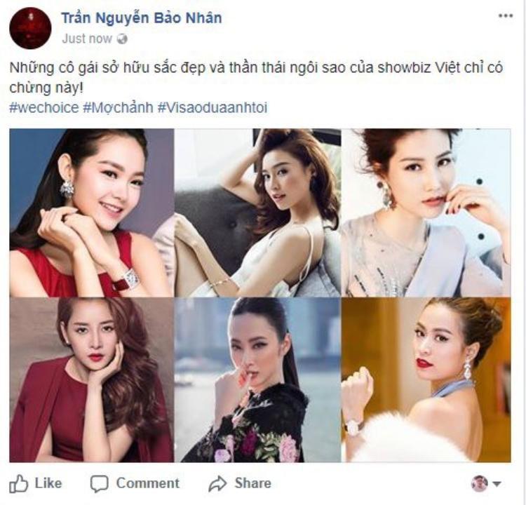 Đạo diễn Bảo Nhân hé mở danh sách 6 ứng viên gồm Minh Hằng, Ninh Dương Lan Ngọc, Diễm My 9x, Chi Pu, Angela Phương Trinh và Hoàng Thùy Linh.