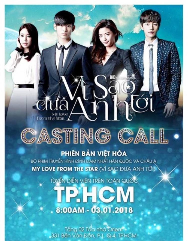BTC thực hiện buổi castingVì sao đưa anh tới tại khu vực TP. Hồ Chí Minh ngày 3/1.