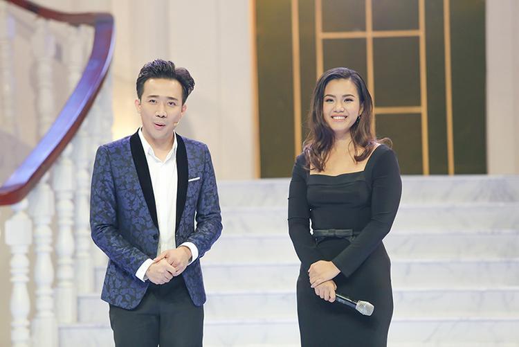 Phương Vy xuất hiện thon gọn, xinh đẹp trong show truyền hình cùng Trấn Thành.
