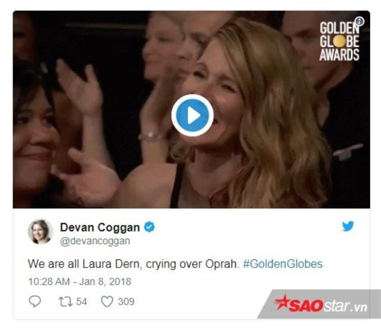 """Devan Coggan: """"Chúng ta là Laura Dern, khóc cùng Oprah""""."""