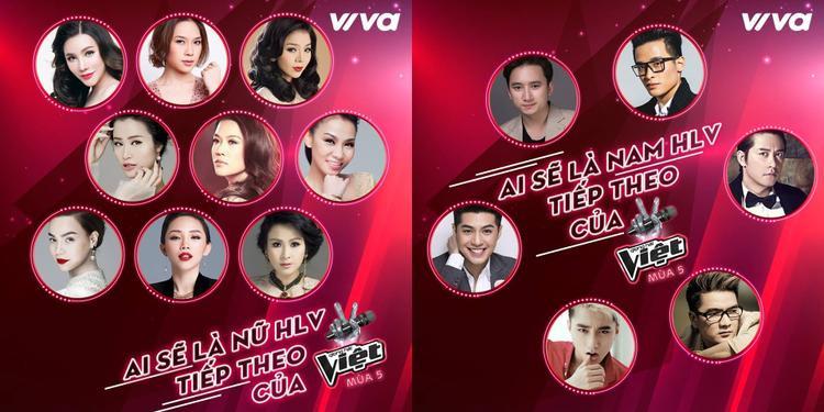 Dàn HLV quyền lực của Giọng hát Việt sẽ sớm được tiết lộ.