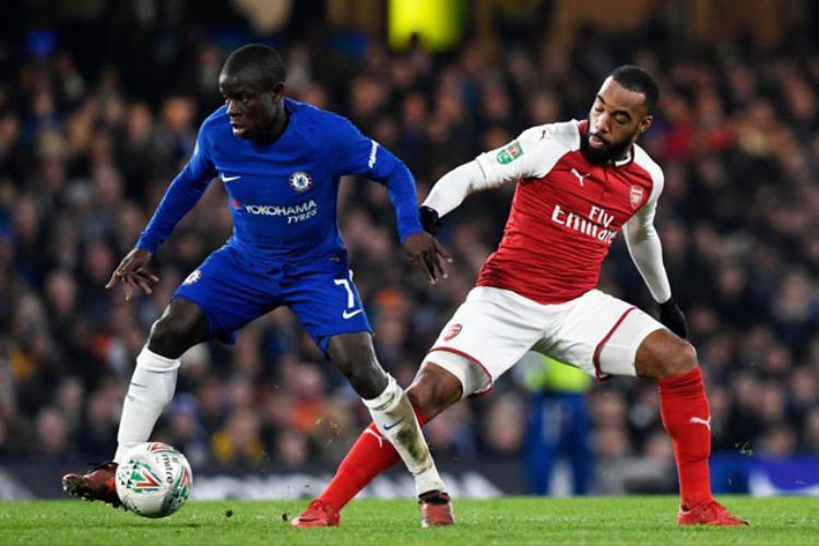 Kante thi đấu đủ 90 phút ở trận gặp Arsenal.