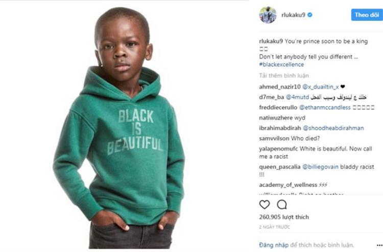 Bài viết trên trang Instagram cá nhân của Lukaku.