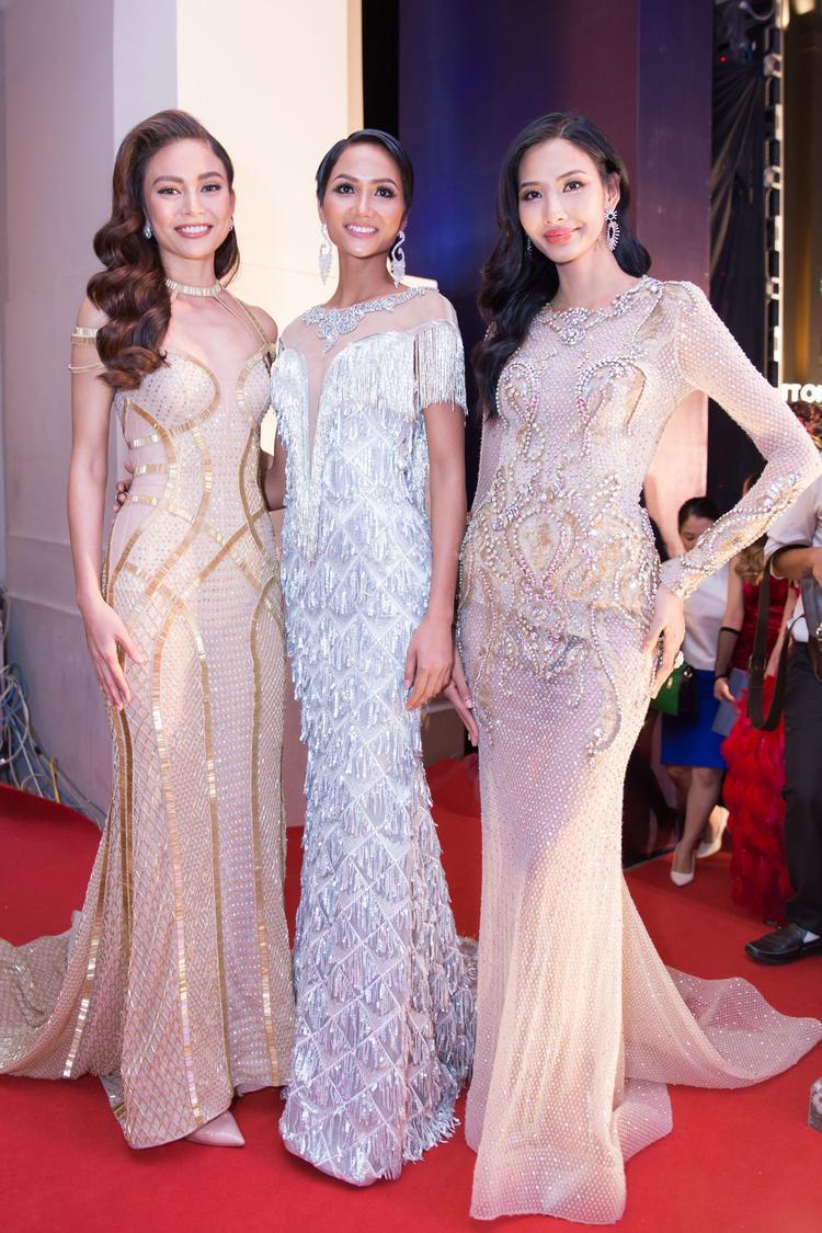 Ba nhan sắc của Hoa hậu Hoàn vũ 2018: H'hen Niê, Hoàng Thùy, Mâu Thủy.