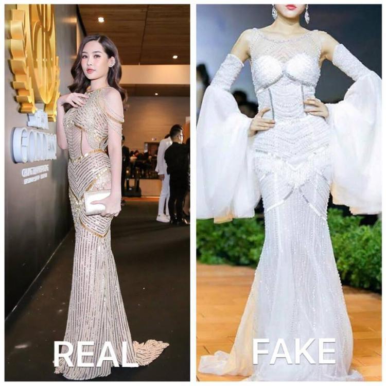 Theo anh chiếc váy trắng có sự giống nhau đến mức không thể tin được với thiết kế được anh dành riêng cho Lê Âu Ngân Anh mặc trong show diễn của mình.