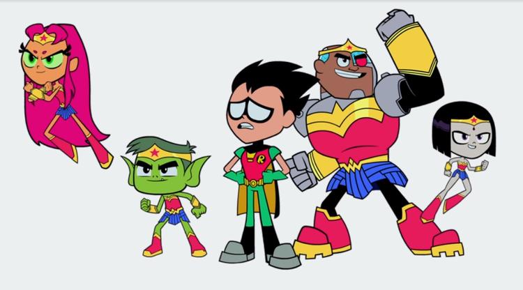 Khi các siêu anh hùng hoạt hình Teen Titans đồng loạt hóa Wonder Woman trên màn ảnh rộng