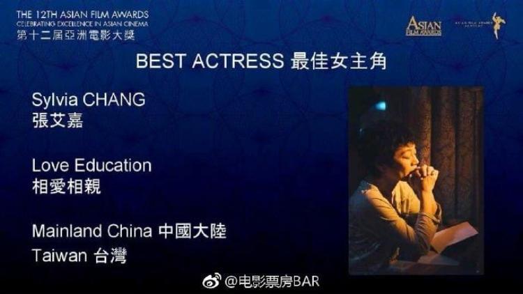 Đạo diễn kiêm diễn viên vô cùng tài năng - Trương Ngải Gia đã nhận được hai đề cử Nữ chính và đạo diễn xuất sắc nhất.
