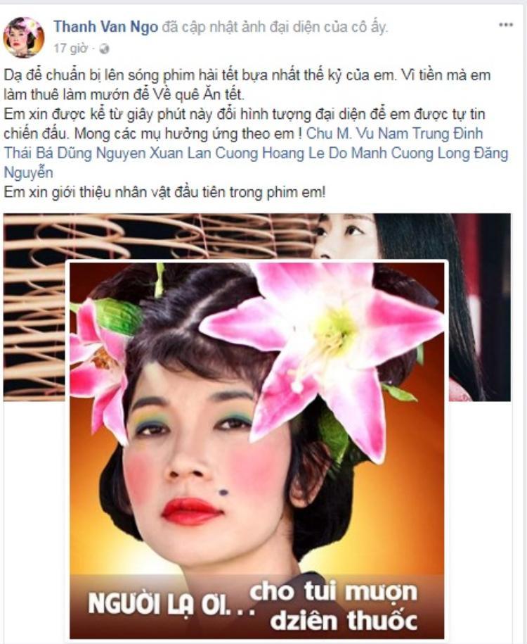 Ngô Thanh Vân cũng tích cực quảng bá hình tượng của nữ siêu mẫu như một cách PR cho bộ phim mới.