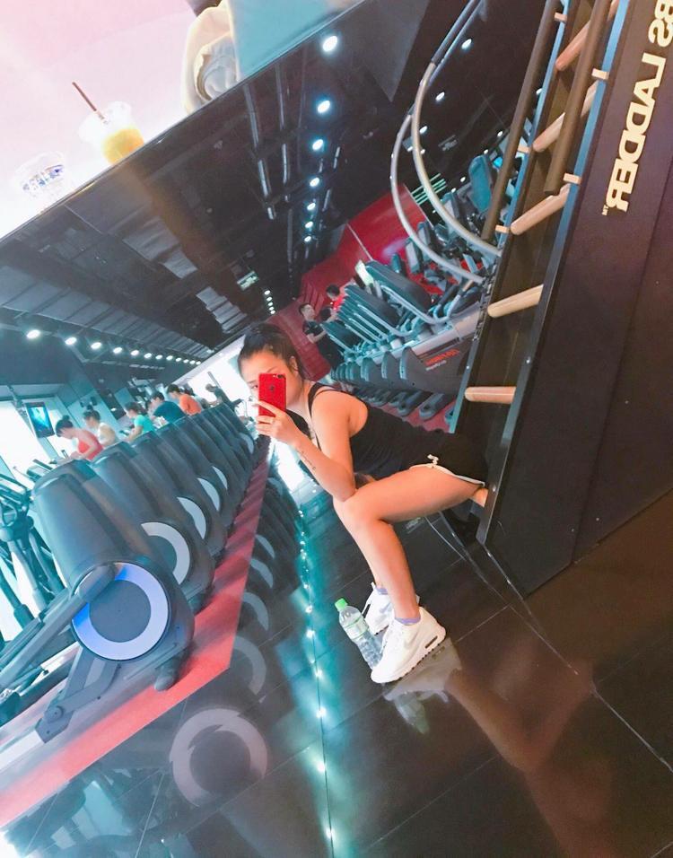 Ngoài tập Boxing, Võ Thương còn chăm chỉ tập Gym.