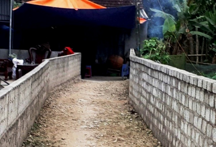 Gia đình anh Tuấn tổ chức tang lễ cho nạn nhân